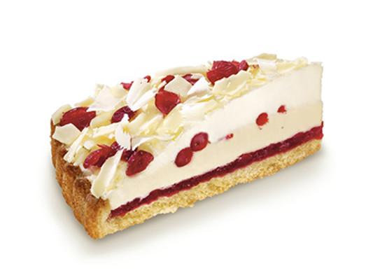 Brusnicová torta s bielou čokoládou