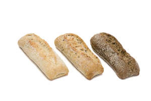 3 druhy mini pečiva Longuet