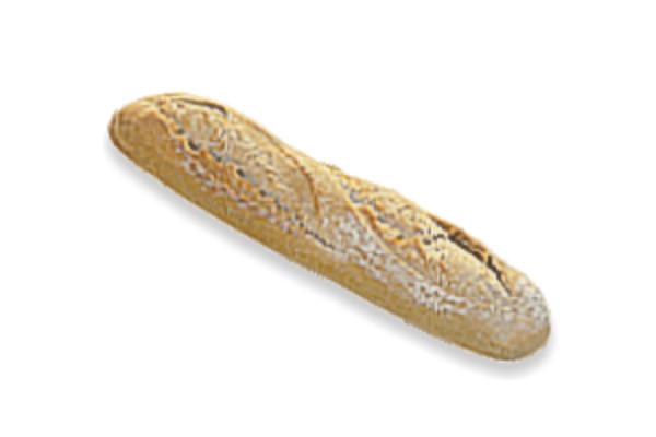 Předpečená chlebová bageta posypaná moukou / střední