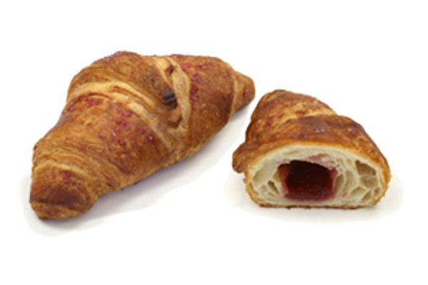 Express croissant s jahodovou náplní